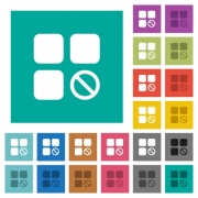Component disabled multi colored flat icons on plain square backgrounds. Included white and darker icon variations for hover or active effects. - Component disabled square flat multi colored icons