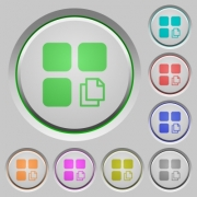 Copy component color icons on sunk push buttons - Copy component push buttons