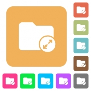 Uncompress directory flat icons on rounded square vivid color backgrounds. - Uncompress directory rounded square flat icons