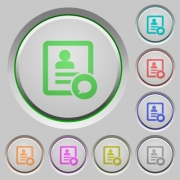 Send message to contact person color icons on sunk push buttons - Send message to contact person push buttons