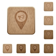Voice navigation on rounded square carved wooden button styles - Voice navigation wooden buttons