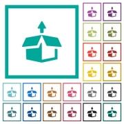 Unpack flat color icons with quadrant frames on white background - Unpack flat color icons with quadrant frames