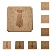 Tie on rounded square carved wooden button styles - Tie wooden buttons