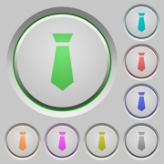 Tie color icons on sunk push buttons - Tie push buttons