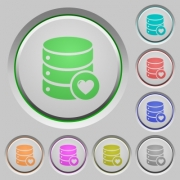 Favorite database color icons on sunk push buttons - Favorite database push buttons - Large thumbnail