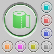 Paper towel color icons on sunk push buttons - Paper towel push buttons - Large thumbnail