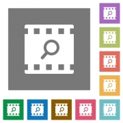 Find movie flat icons on simple color square backgrounds - Find movie square flat icons - Large thumbnail