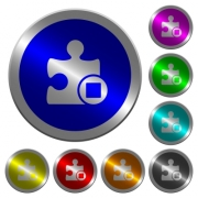 Stop plugin icons on round luminous coin-like color steel buttons - Stop plugin luminous coin-like round color buttons