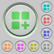 Add new component color icons on sunk push buttons - Add new component push buttons