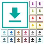 Download flat color icons with quadrant frames on white background - Download flat color icons with quadrant frames