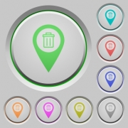 Delete GPS map location color icons on sunk push buttons - Delete GPS map location push buttons