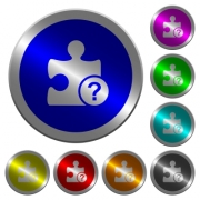 Unknown plugin icons on round luminous coin-like color steel buttons - Unknown plugin luminous coin-like round color buttons
