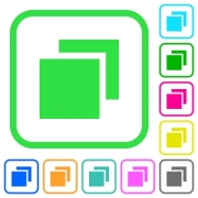 Overlapping elements vivid colored flat icons in curved borders on white background - Overlapping elements vivid colored flat icons