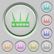 Wireless router color icons on sunk push buttons - Wireless router push buttons