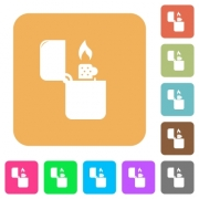 Lighter icons flat icons on rounded square vivid color backgrounds. - Lighter icons rounded square flat icons