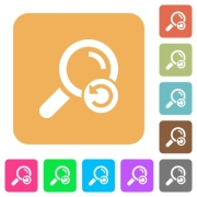 Undo search flat icons on rounded square vivid color backgrounds. - Undo search rounded square flat icons
