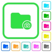 Directory snapshot vivid colored flat icons in curved borders on white background - Directory snapshot vivid colored flat icons