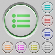 Bullet list color icons on sunk push buttons - Bullet list push buttons