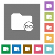 Link directory flat icons on simple color square backgrounds - Link directory square flat icons