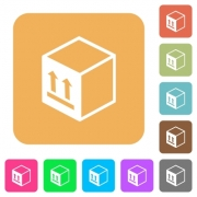 Single package flat icons on rounded square vivid color backgrounds. - Single package rounded square flat icons