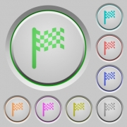 Race flag color icons on sunk push buttons - Race flag push buttons