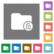 Unlock directory flat icons on simple color square backgrounds - Unlock directory square flat icons