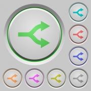 Split arrows color icons on sunk push buttons - Split arrows push buttons