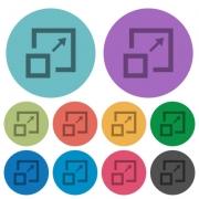 Enlarge window darker flat icons on color round background - Enlarge window color darker flat icons