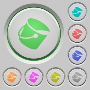 Paint bucket color icons on sunk push buttons - Paint bucket push buttons