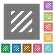 Texture flat icons on simple color square backgrounds - Texture square flat icons