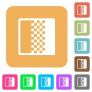 Color gradient flat icons on rounded square vivid color backgrounds. - Color gradient rounded square flat icons