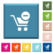 Remove item from cart white icons on edged square buttons in various trendy colors - Remove item from cart white icons on edged square buttons