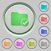 Directory ok color icons on sunk push buttons - Directory ok push buttons