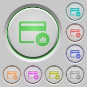 Credit card transaction reports color icons on sunk push buttons - Credit card transaction reports push buttons
