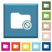 Disabled directory white icons on edged square buttons in various trendy colors - Disabled directory white icons on edged square buttons
