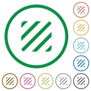 Texture flat color icons in round outlines on white background - Texture flat icons with outlines