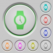 Watch color icons on sunk push buttons - Watch push buttons