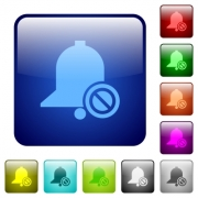 Disable reminder icons in rounded square color glossy button set - Disable reminder color square buttons