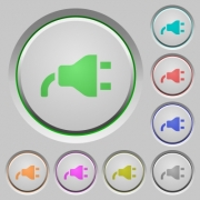 Power plug color icons on sunk push buttons - Power plug push buttons