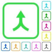 Merge arrows up vivid colored flat icons in curved borders on white background - Merge arrows up vivid colored flat icons - Large thumbnail
