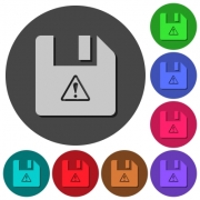 File warning icons with shadows on color round backgrounds for material design - File warning icons with shadows on round backgrounds