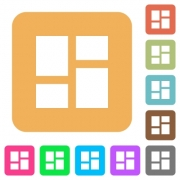 Admin dashboard panels flat icons on rounded square vivid color backgrounds. - Admin dashboard panels rounded square flat icons