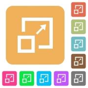 Enlarge window flat icons on rounded square vivid color backgrounds. - Enlarge window rounded square flat icons