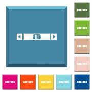 Horizontal scroll bar white icons on edged square buttons in various trendy colors - Horizontal scroll bar white icons on edged square buttons