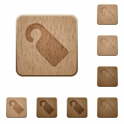 Do not disturb sign on rounded square carved wooden button styles - Do not disturb sign wooden buttons
