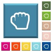 Grab cursor white icons on edged square buttons in various trendy colors - Grab cursor white icons on edged square buttons