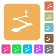 Roadmap flat icons on rounded square vivid color backgrounds. - Roadmap rounded square flat icons