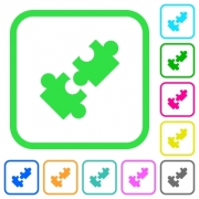 Cooperation vivid colored flat icons in curved borders on white background - Cooperation vivid colored flat icons