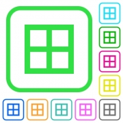 All borders vivid colored flat icons in curved borders on white background - All borders vivid colored flat icons