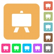 Blackboard flat icons on rounded square vivid color backgrounds. - Blackboard rounded square flat icons